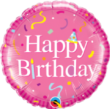 "Happy Birthday Pink Foil Balloon (18"") 1pc"